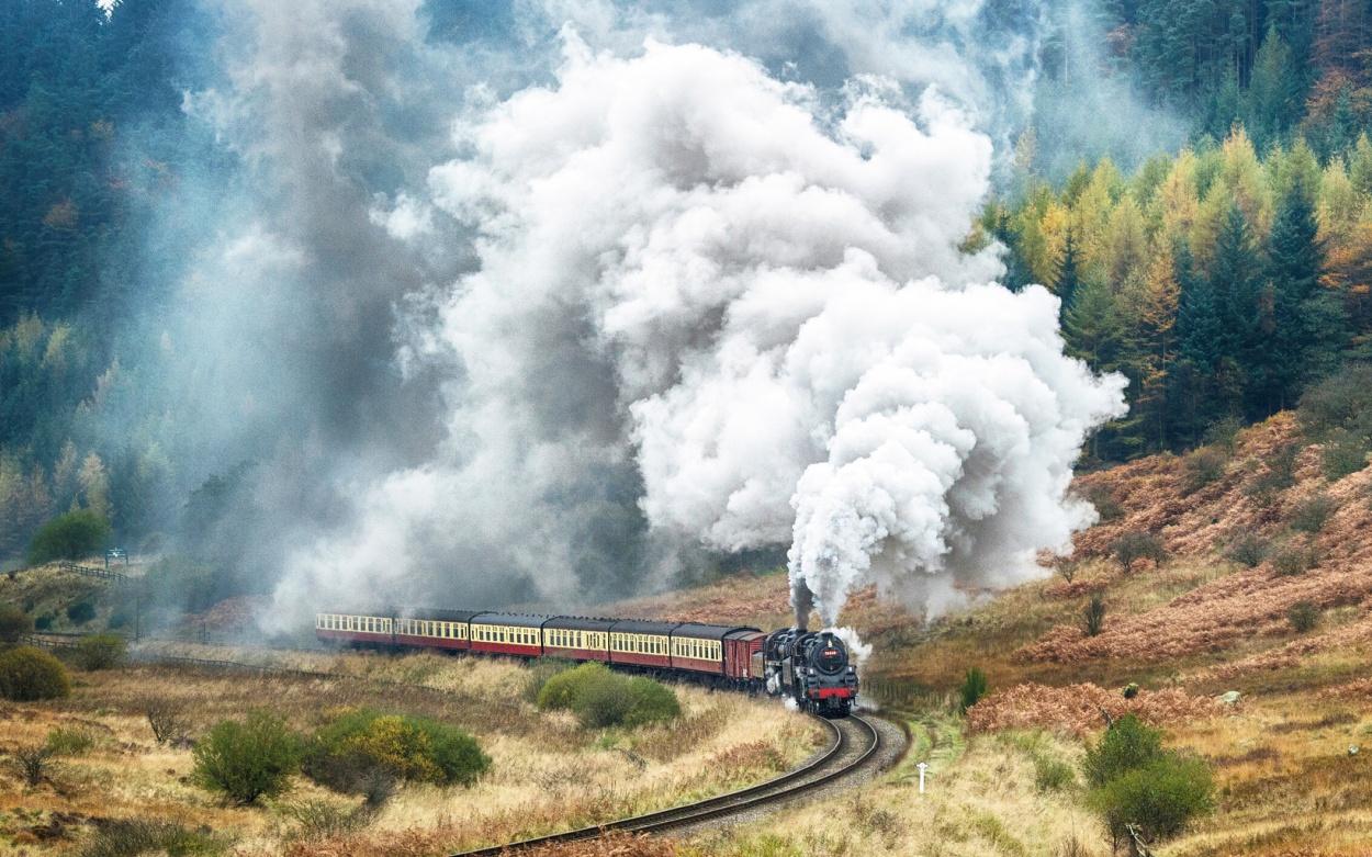 Nostalgie Eisenbahnen Großbritannien Dampflokomotive Dampf England