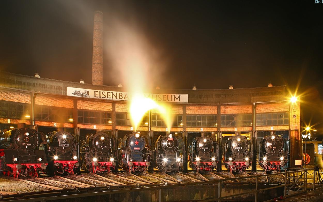 Dampflokomotiven Eisenbahn Dampfloktreffen Dresden