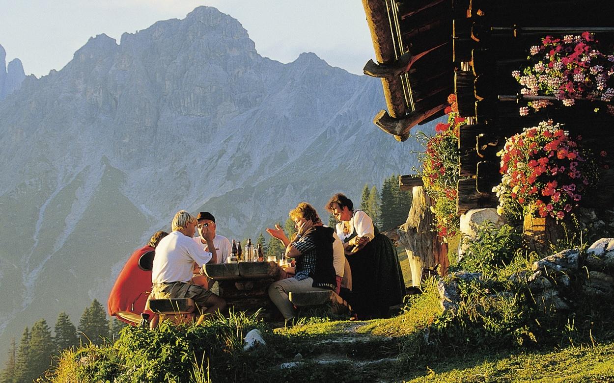 ALpenpanorama Schweiz Gemütlichkeit