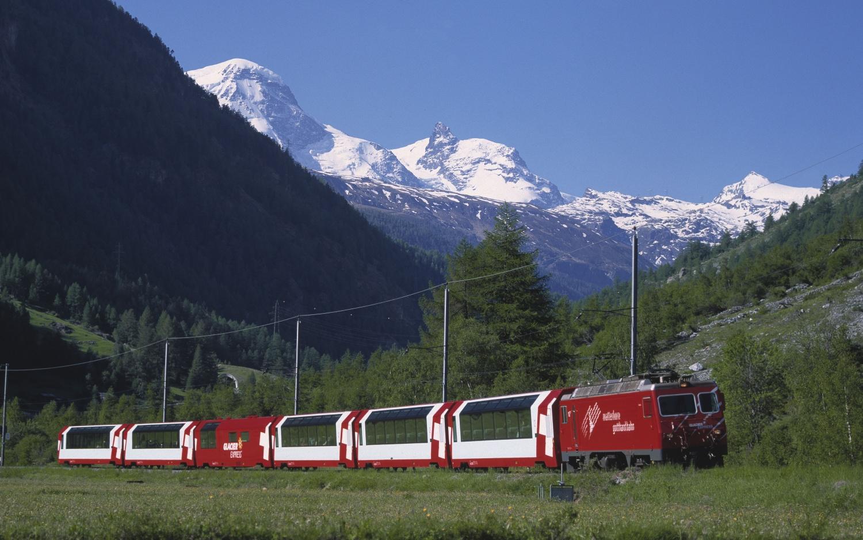 Glacier Express Alpen Berge