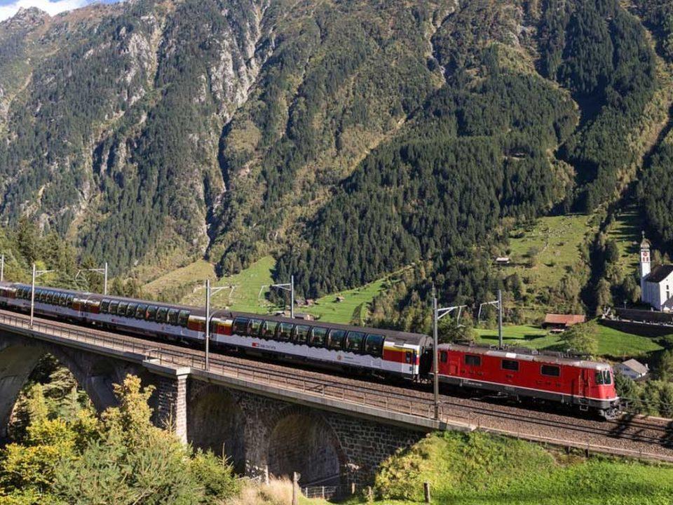 Schweizer Panorama Züge