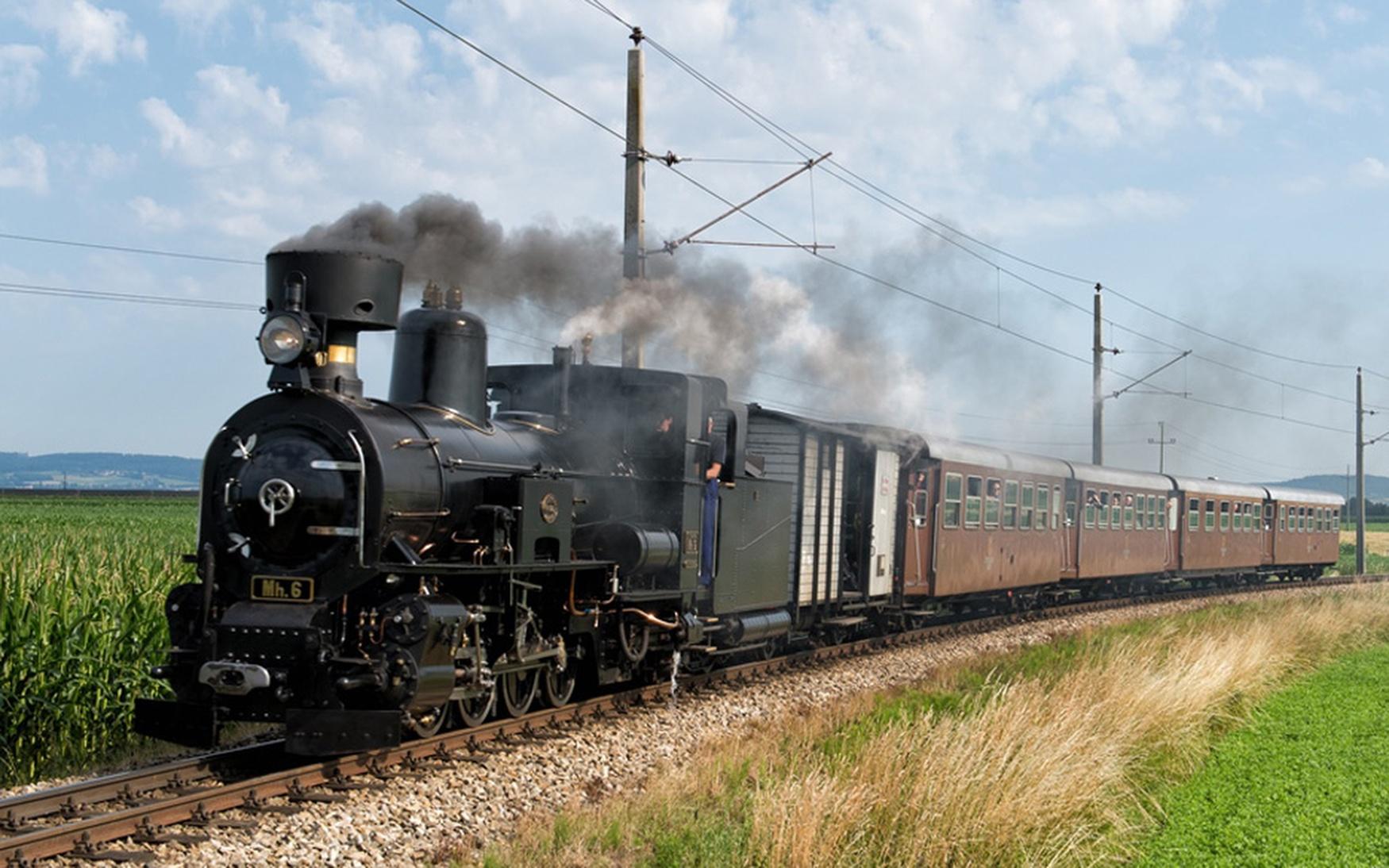 Nostalgie Volldampf bahnreisen Zugreisen Dampfzug Nostalgiezug Wiener Eisenbahn