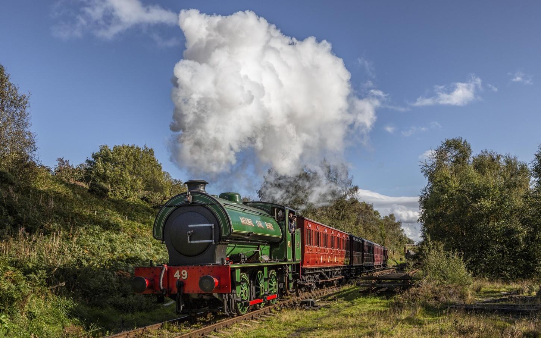 Dampfzug England Eisenbahn Nostalgie