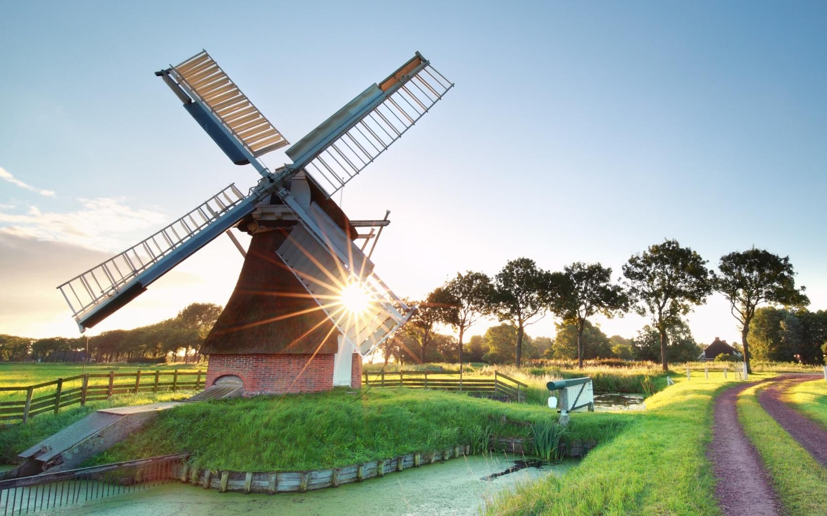 Nostalgie Windmühle Windmühlen