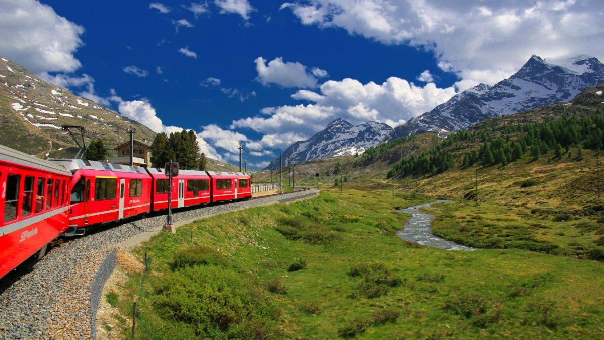 Glacier Bernina Express Davos