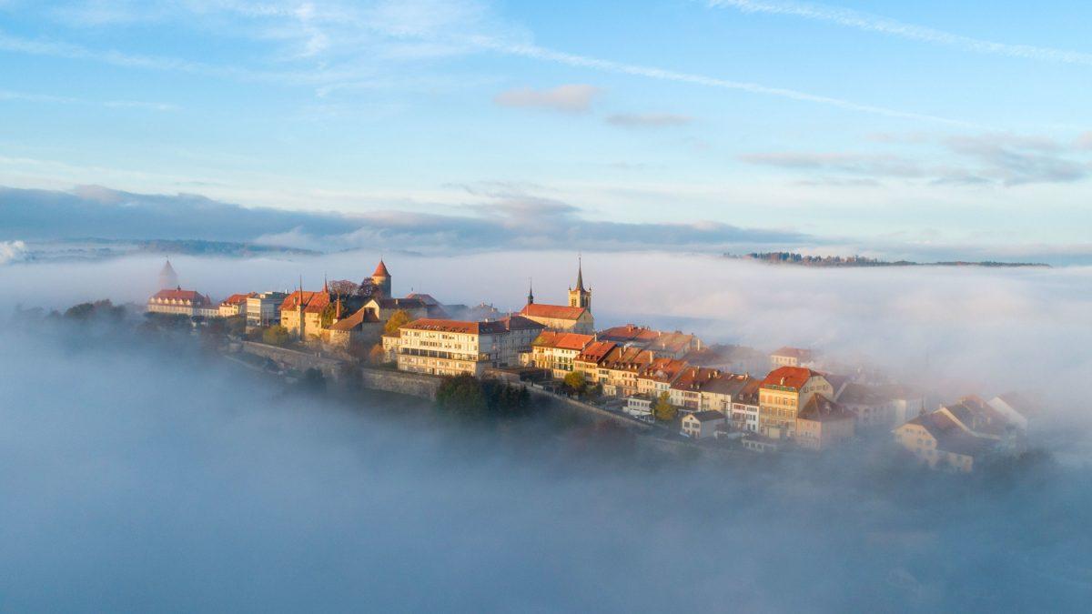 Schweiz Fribourger Land 3-Seen-Kand3-Seen-Land