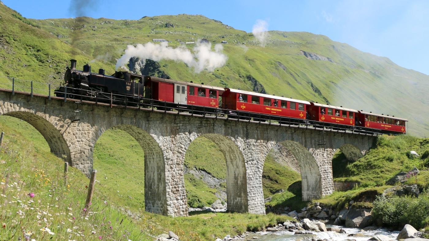 Zentralschweiz Furkapass-Aletschgletscher