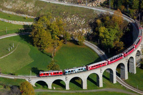 Eisenbahnen Bernina Express Furka Dampfbahn