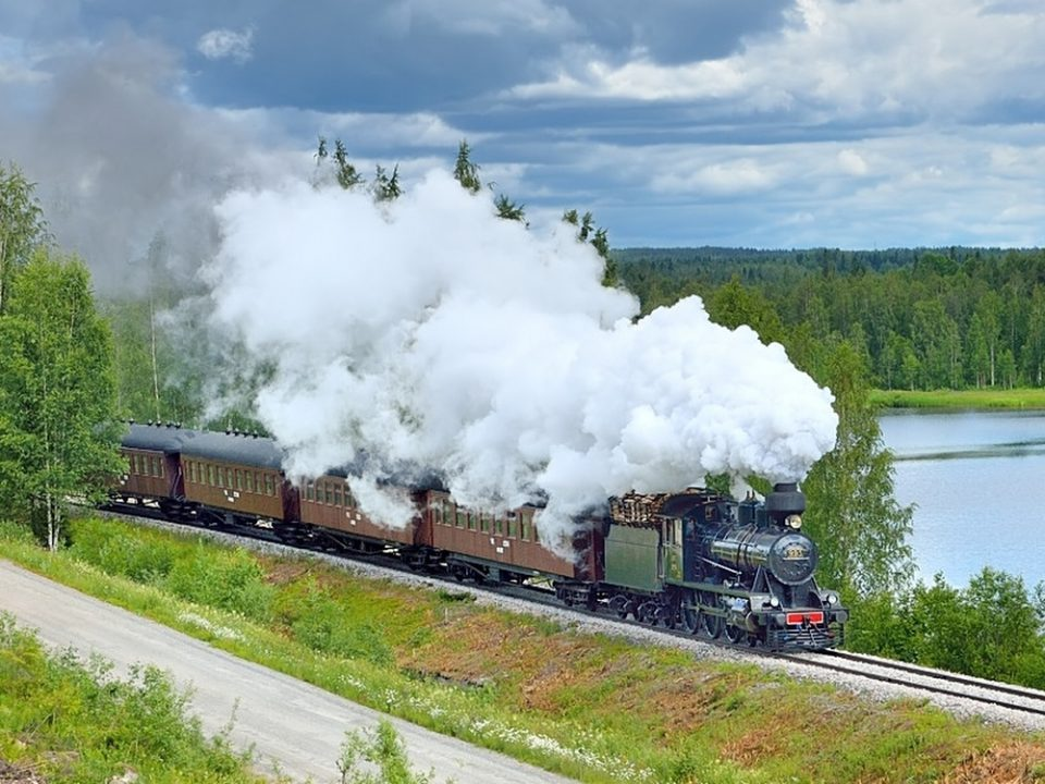 Nostalgie Dampflokomotive Dampfzug Finnland Russland Sankt Petersburg
