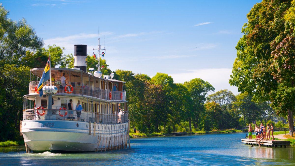Göta Kanal Nostalgie Dampfschiff Schweden
