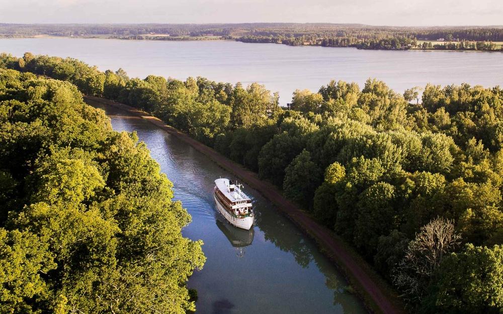 Göta Kanal Nostalgie Schweden Landschaft