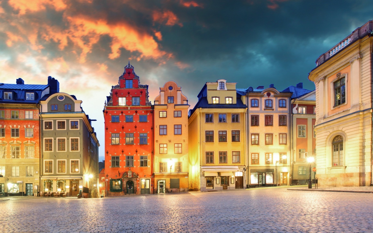 Stockholm Gamla Stan SChweden Altstadt Nostalgie