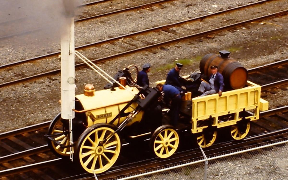 Die Eisenbahn Geschicht England Großbritannien