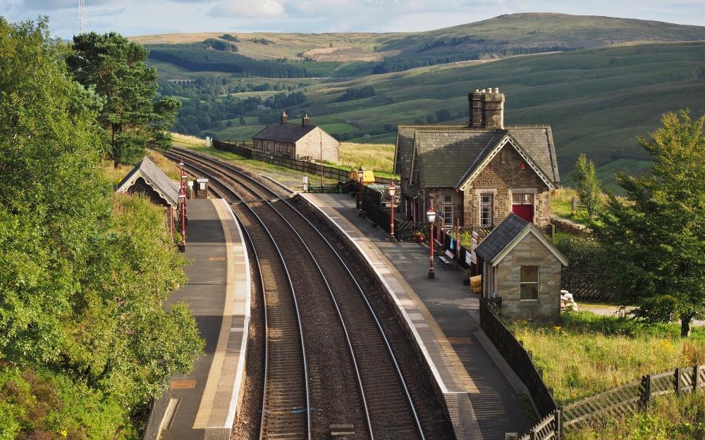 Eisenbahn Settle Carlisle Line Dampfzug