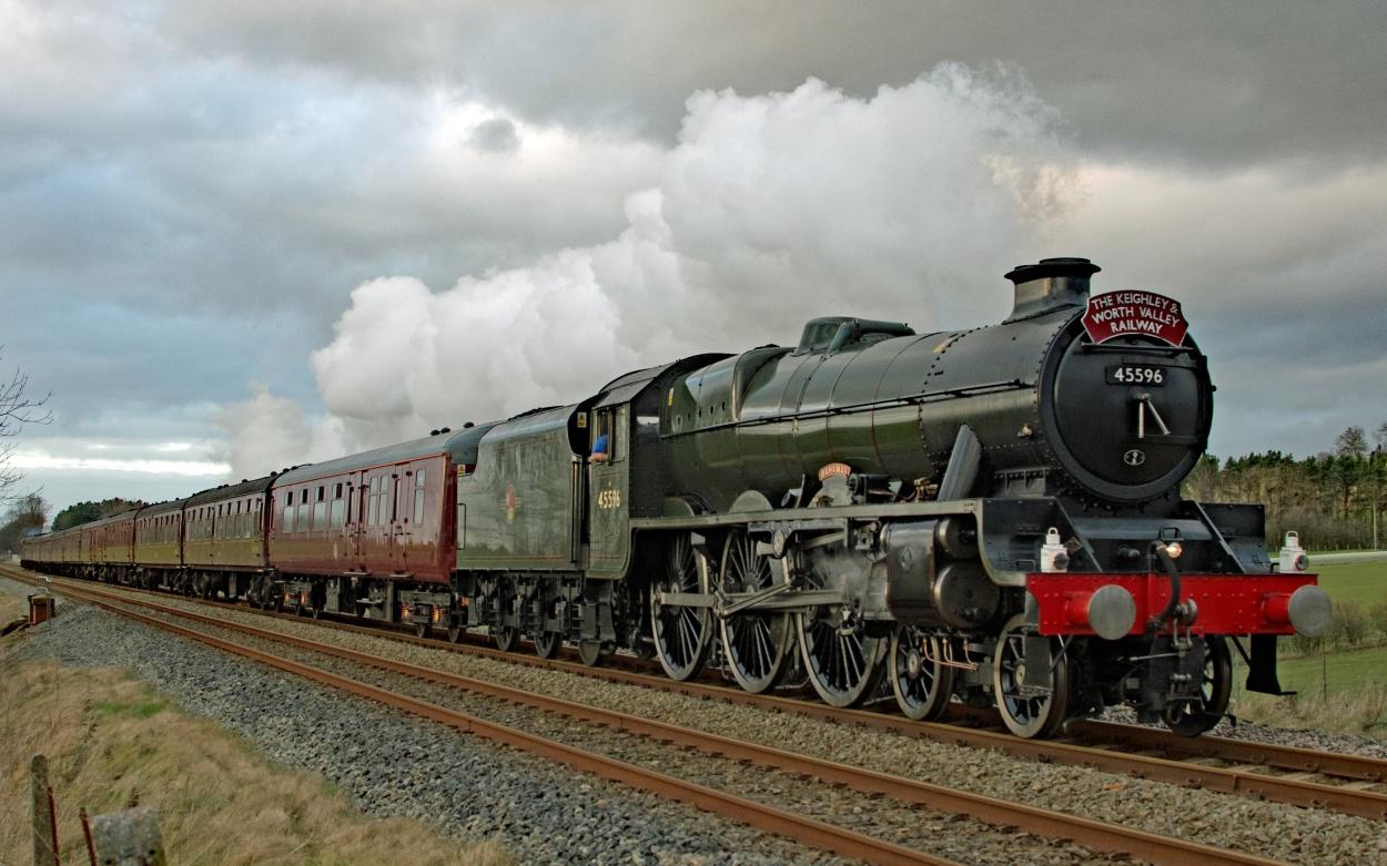 Eisenbahn Nostalgie Dampflokomotvie Dampfzug Settle Carlisle Railway England