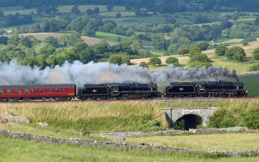 Eisenbahn Dampfzug Settle Carlisle Railway England