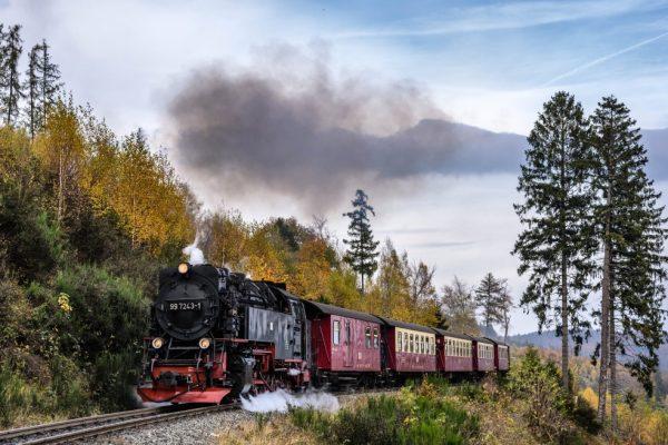 Harz Brocken Dampflokomotive Dampfeisenbahn