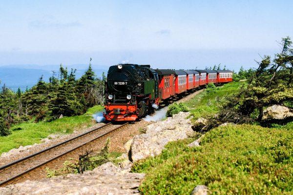 Damals Harz Brocken Dampflokomotive Dampfeisenbahn