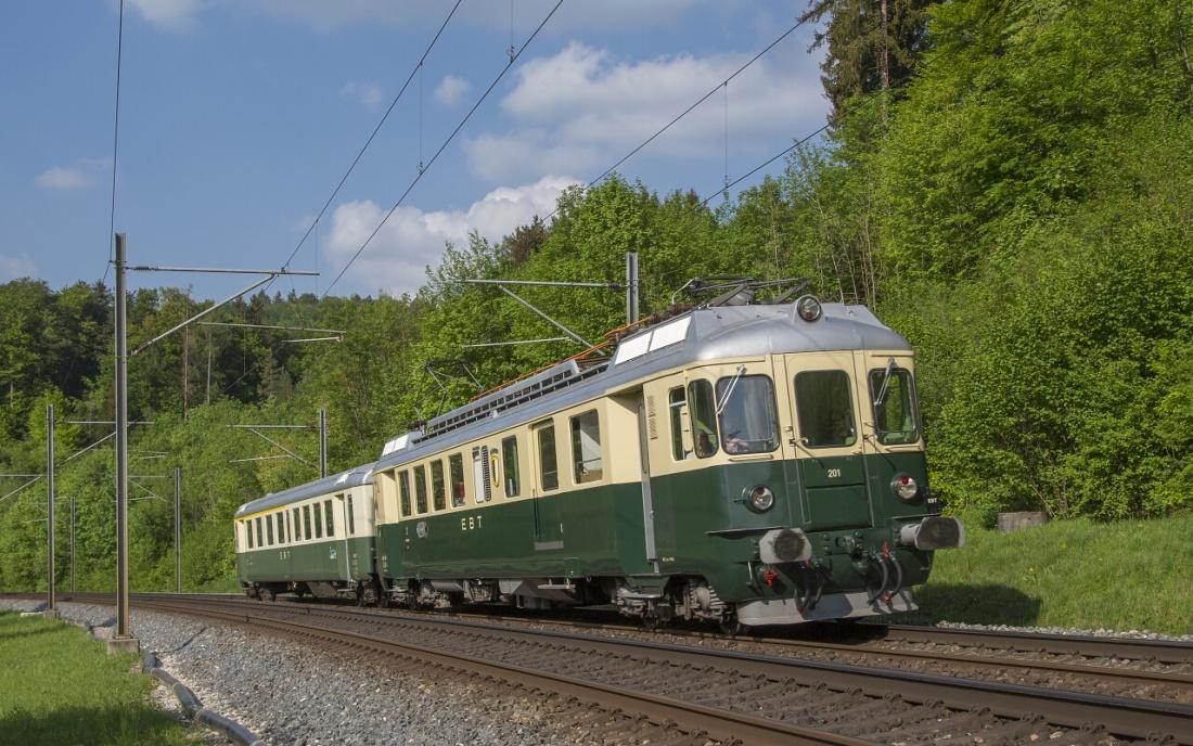 Schweiz Pendelzug Oldtimer Fahrzeuge