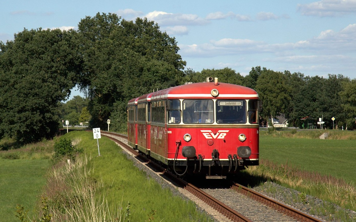 Classic Moor Express EVB Schienenbus Stade Bremen Urdonger Nostalgie, oter Brummer