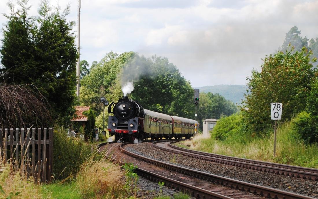 Dampflok Dampflokomotibe 01519 Eisenbahnfreunde Zollernbahn e.V. Dampfzug Historische Lok
